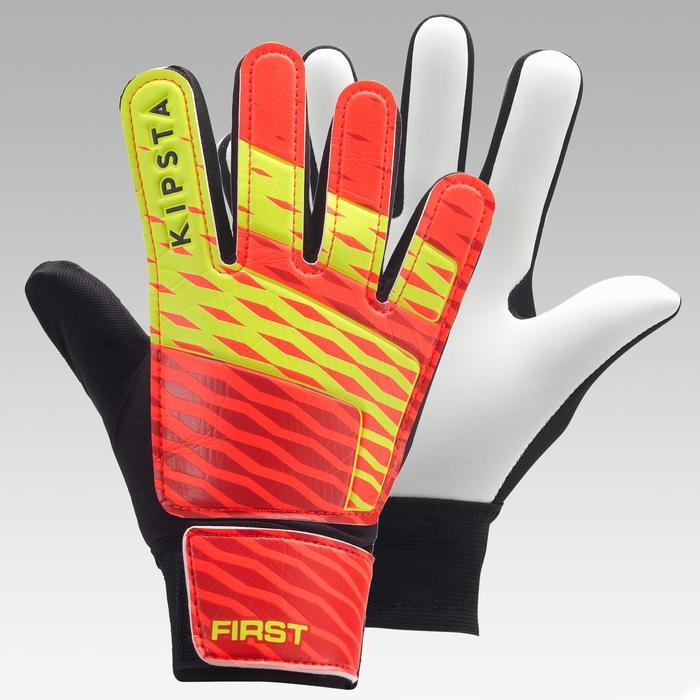 Keepershandschoenen voor kinderen First oranje/zwart/geel