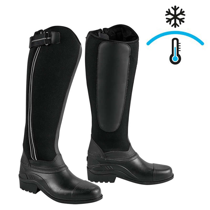 COLD WEATHER LONG RIDING BOOTS ADULT Horse Riding - ADULT NEOPRENE BOOTS WARM KERBL - Horse Riding