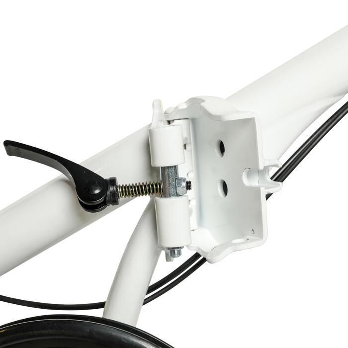 """20"""" Tilt 120 White Folding Bike"""