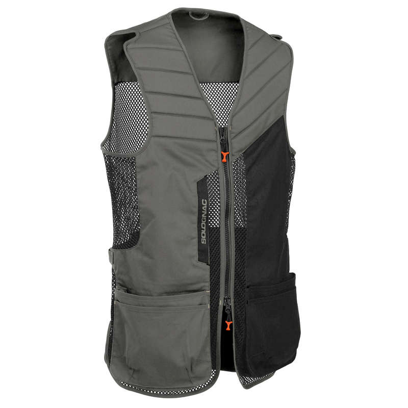 CLAY SHOOTING EQUIPMENT Shooting and Hunting - CLAY PIGEON GILET 500 GRBLACK SOLOGNAC - Clay Pigeon Shooting