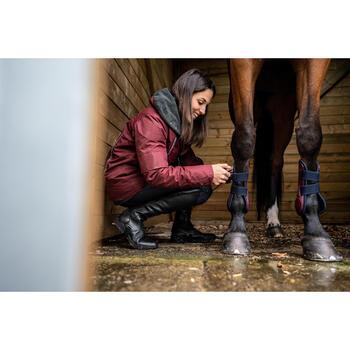 Gamaschen offen 500 Jump Pferd bordeaux