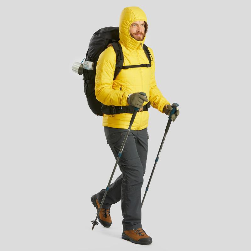 Men's mountain trekking rucksack _PIPE_ TREK 100 Easyfit 50L - black