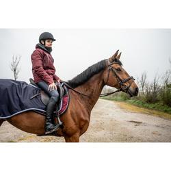 Couvre-reins équitation cheval 500 3en1 marine
