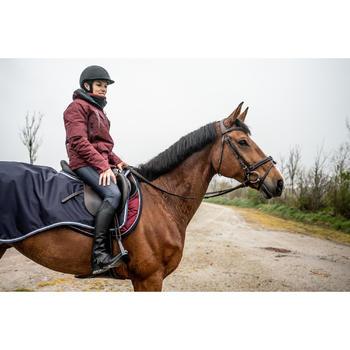Waterdichte, warme en ademende paardrijbroek dames Kipwarm marineblauw