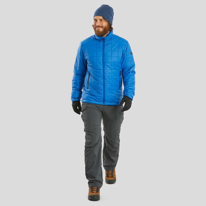 Gorro de Trekking Montaña TREK 500 lana merina azul