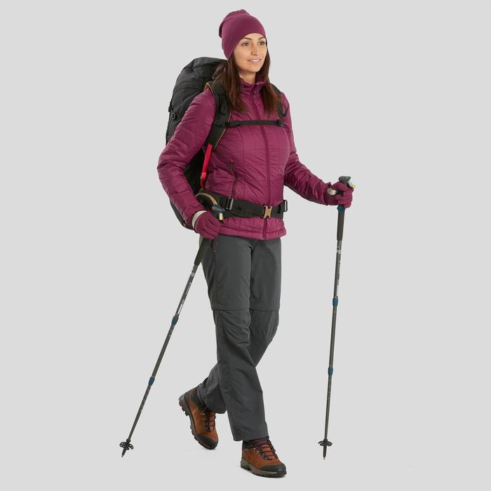 Doudoune trekking montagne TREK 100 femme violet