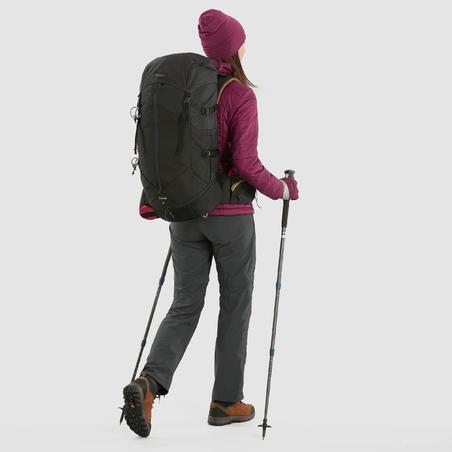 Chaussures de randonnée en cuir TREK100 - Femmes