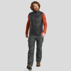Men's Mountain Trekking Sleeveless Padded Vest TREK 100 - Black