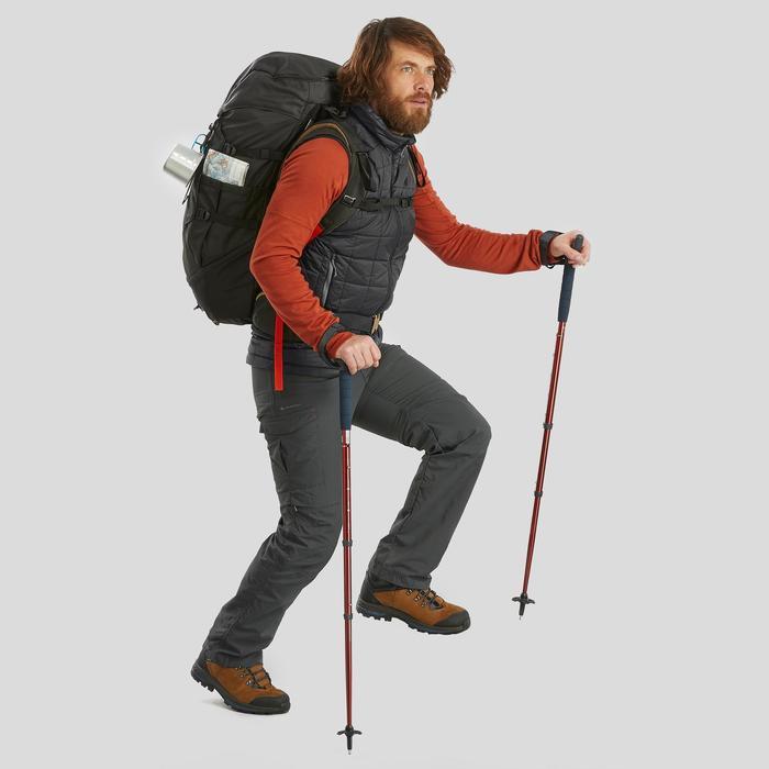 Gilet sans manche de trek montagne - TREK 100 noir homme