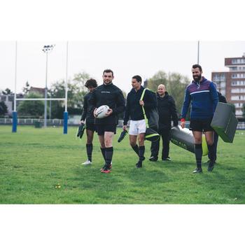 Sac tube 5 ballons de rugby kaki