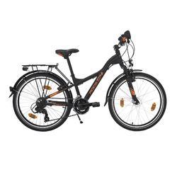 "Kinderfahrrad 24"" City Bike D4 Rock Alu schwarz/orange"