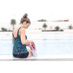 Maillot de bain de natation femme une pièce Loran tankini Afi noir