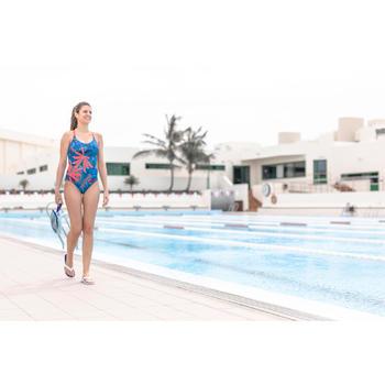 Teenslippers voor zwembad dames Tonga 500 wit blauw