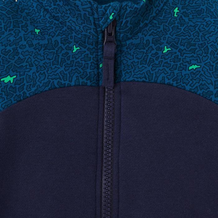 Vest kleutergym 120 blauw opdruk