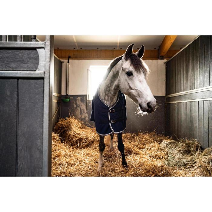 Chemise d'écurie équitation cheval et poney POLAR 500 bleu