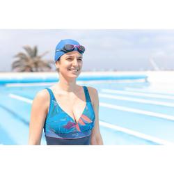 Maillot de bain gainant natation femme une pièce Kaipearl triki Pal bleu rouge