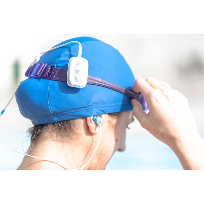 Wasserdichter MP3-Player SwimMusic 100 V3 weiß/blau