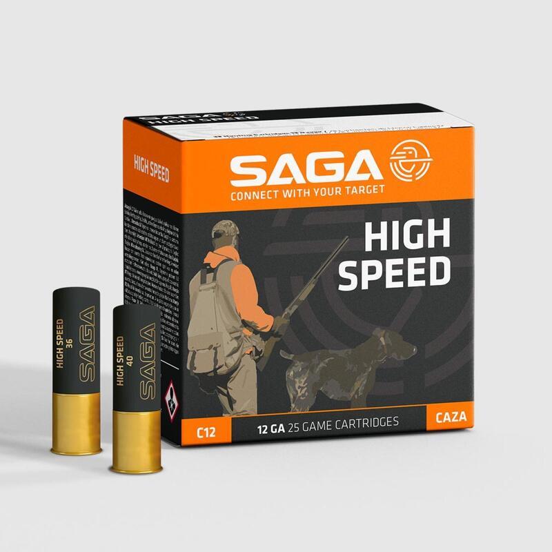 Cartucho Caza Saga High Speed Calibre 12/70 36 GR X 25