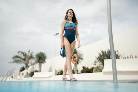 Loran Women's One-Piece Swimsuit black Pal blue