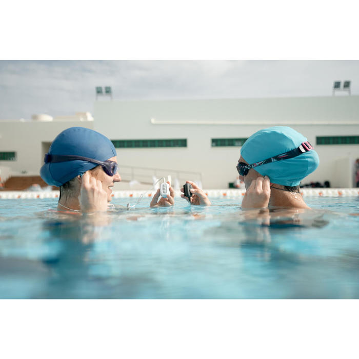 Reproductor MP3 resistente al agua y auriculares SwimMusic 100 V3 Negro Azul