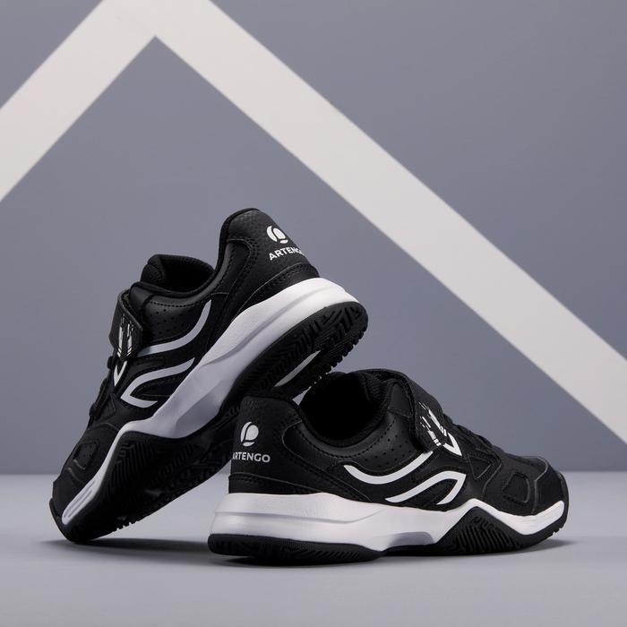Tennisschuhe TS530 Turnschuhe Kinder schwarz/weiß