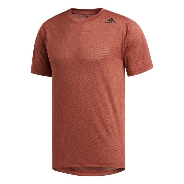 Tee shirt fitness cardio training homme orange