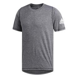 T-shirt voor cardiofitness heren gemêleerd grijs