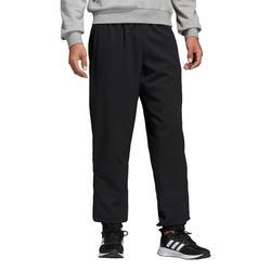 Pantalón Chándal Fitness Cardio Adidas Hombre Negro Forro De Algodón