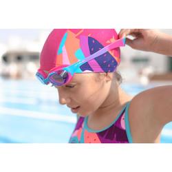 Zwembril 100 X-Base maat S Dye roze/blauw