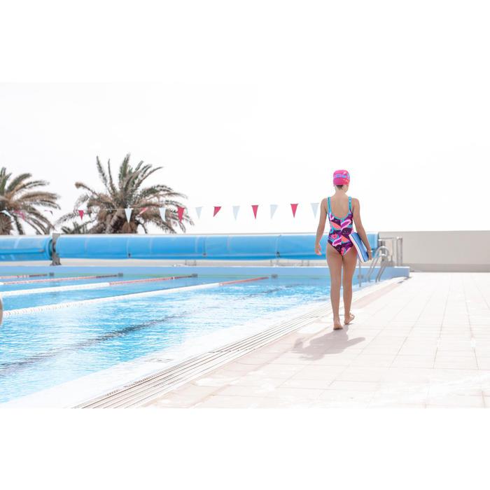 Maillot de bain de natation fille une pièce Heva + All Veg violet bleu