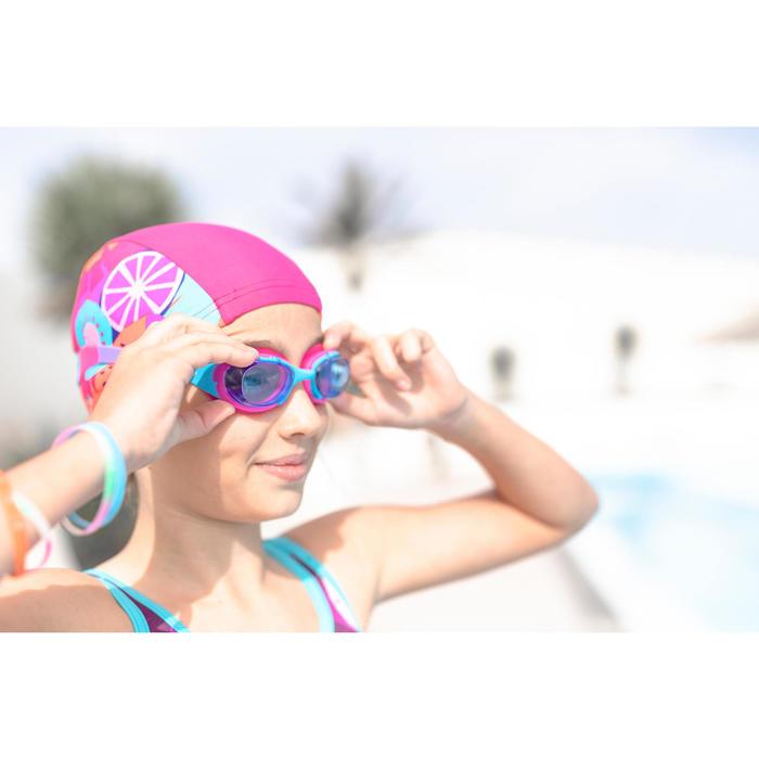 Zwembril 100 XBase maat S Dye roze/blauw