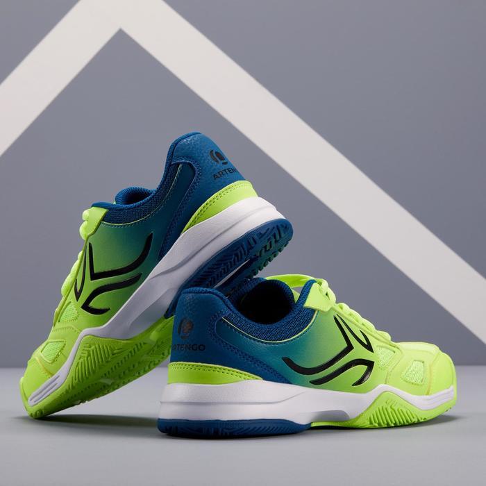 兒童款網球鞋TS560-藍黃配色
