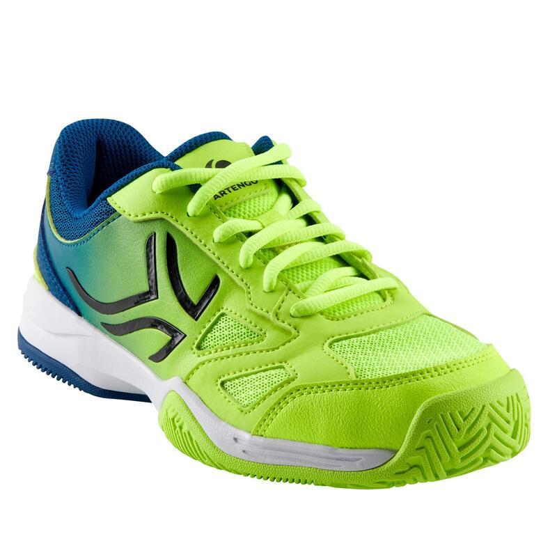Çocuk Tenis Ayakkabısı - Mavi / Yeşil - TS560