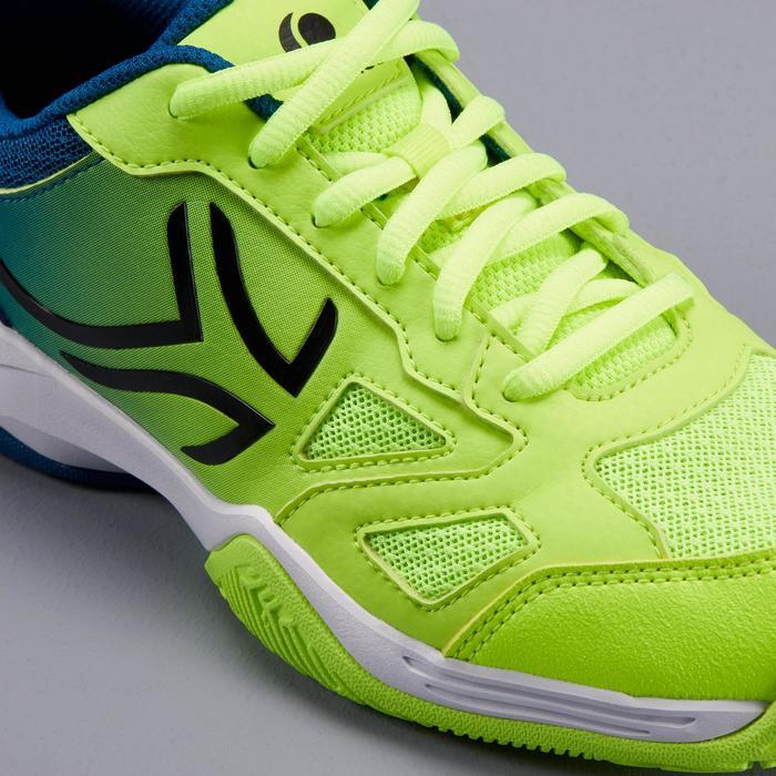 Tennisschuhe TS560 Turnschuhe Kinder blau/gelb