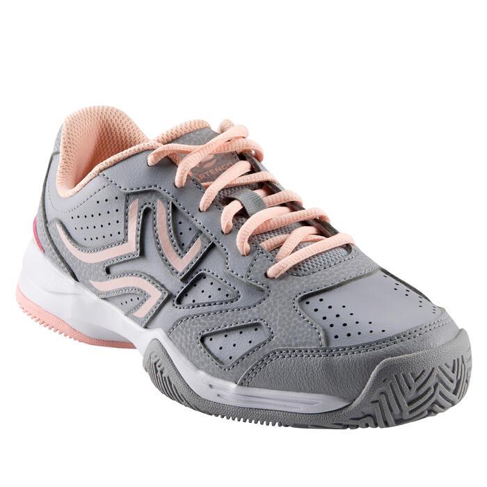 Tennisschuhe TS530 Kinder grau/rosa