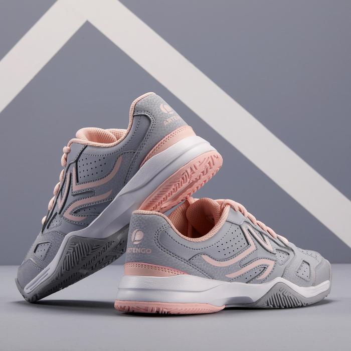 Tennisschoenen voor kinderen Artengo TS530 grijs/roze