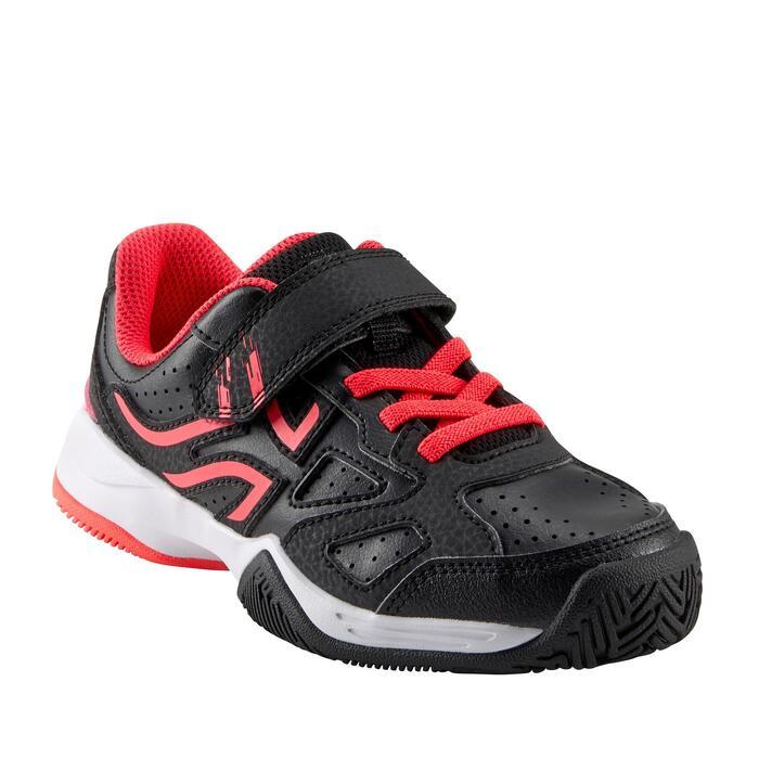 Tennisschuhe TS530 Turnschuhe mit Klettverschluss Kinder schwarz/rosa