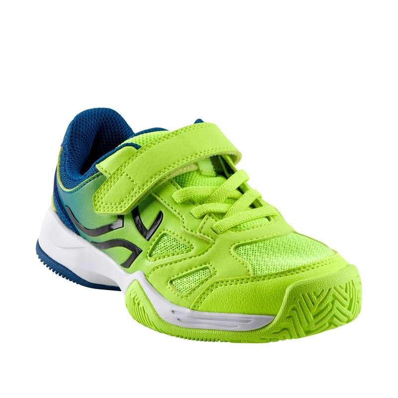 BUTY DO TENISA JUNIOR Tenis - Buty TS560 JR RZEPY nieb-żół. ARTENGO - Buty i akcesoria do tenisa