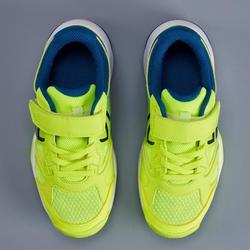Tennisschuhe TS560 Turnschuhe mit Klettverschluss Kinder blau/gelb