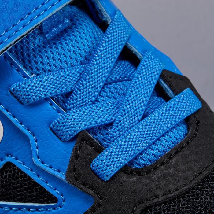 Tennisschuhe TS560 Klettverschluss Mesh Turnschuhe Kinder blau/schwarz
