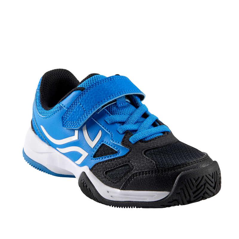 SCARPE TENNIS BAMBINO Ping Pong - Scarpe tennis jr TS560 azzurre ARTENGO - Club e Scuole