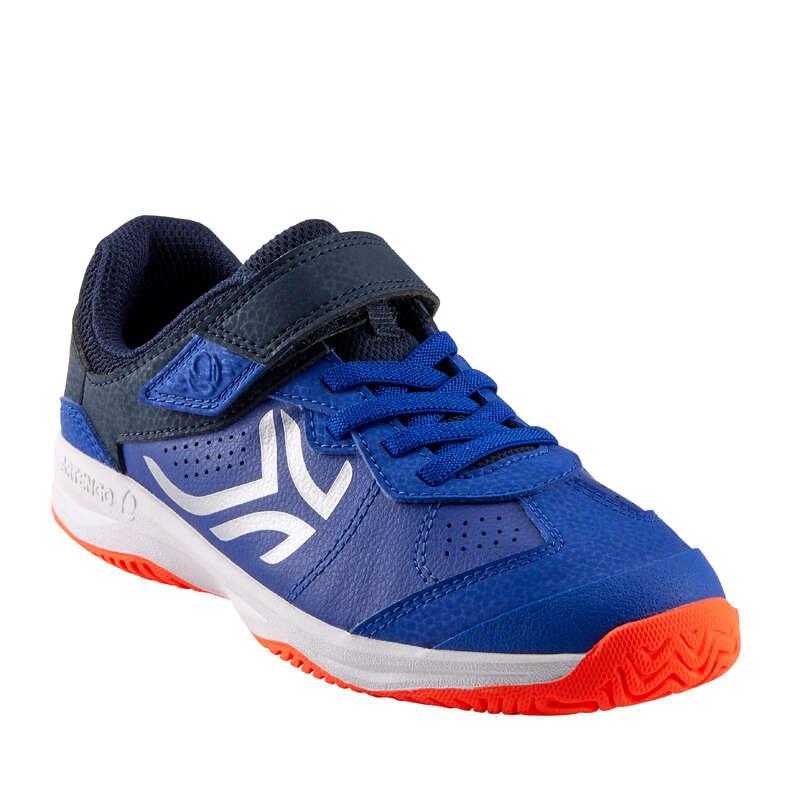 BUTY DO TENISA JUNIOR Tenis - TS160 JR niebiesko-srebrne ARTENGO - Buty i akcesoria do tenisa