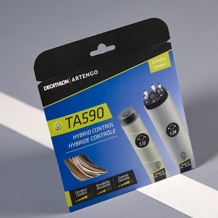 CORDAGE DE TENNIS TA 590 HYBRID COMFORT CONTROL BEIGE