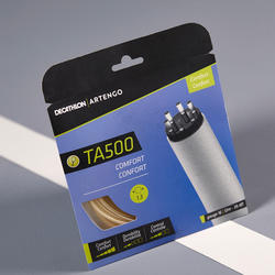 CORDAGE DE TENNIS MULTIFILAMENTS TA 500 CONFORT 1,3 mm BEIGE