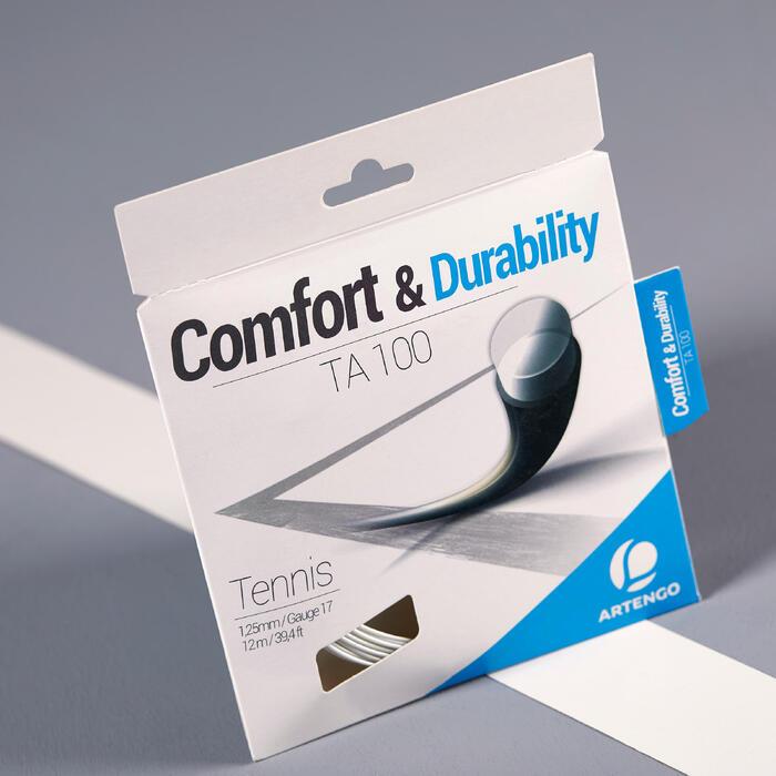 CORDAGE DE TENNIS MONOFILAMENT TA 100 1,25mm blanc 12 M