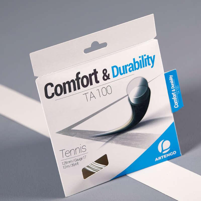 TENNISSTRÄNGAR Racketsport - ARTENGO TA 100 1,25mm ARTENGO - Tennis WHITE