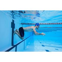 Schwimmbrille 500 Spirit Größe L orange/blau getönte Gläser