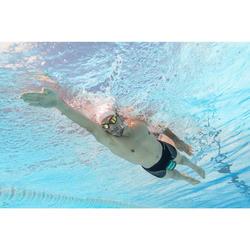 Zwemboxer voor heren 500 Fit zwart dash grijs