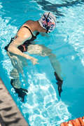 PLAVECKÉ VYBAVENÍ Plavání - KRÁTKÉ PLOUTVE SILIFINS ČERNÉ NABAIJI - Doplňky plavce