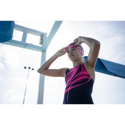 500 B-FIT Swimming Goggles - Black Pink, Clear Lenses